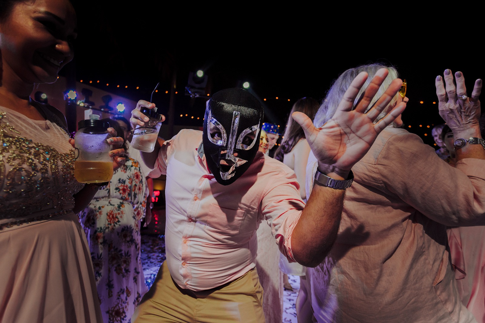 wedding-party-mexico-luchador-mask-dance-drink-fun-