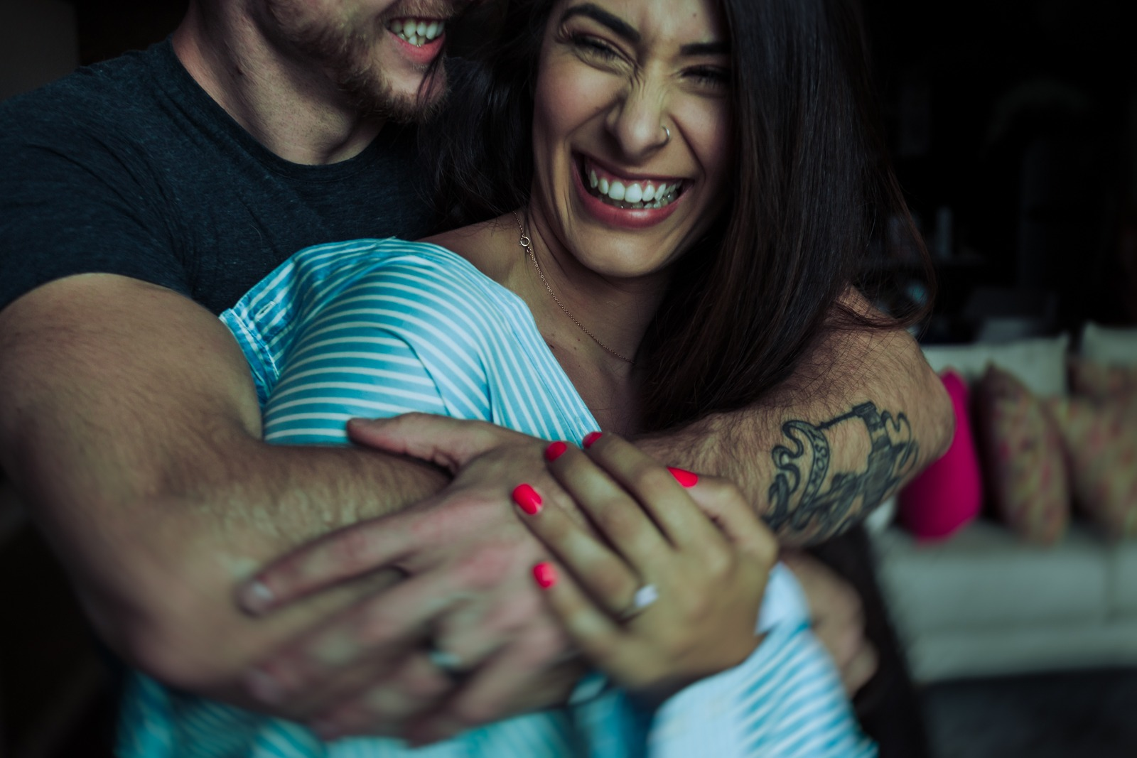 couple-smile-hug-moment-tattoo-ring-bride-groom-vallarta